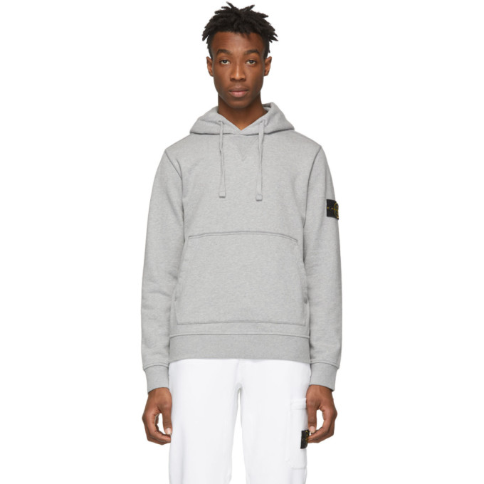 3203a998c4bd Stone Island - Cotton Jersey Hooded Sweatshirt - Mens - Grey In V1064 Polve