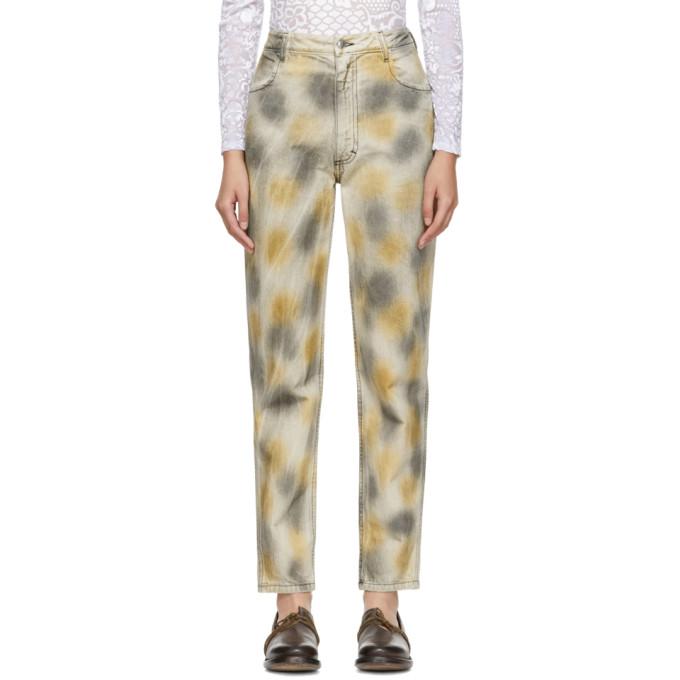 Image of Eckhaus Latta Beige Bleached EL Jeans