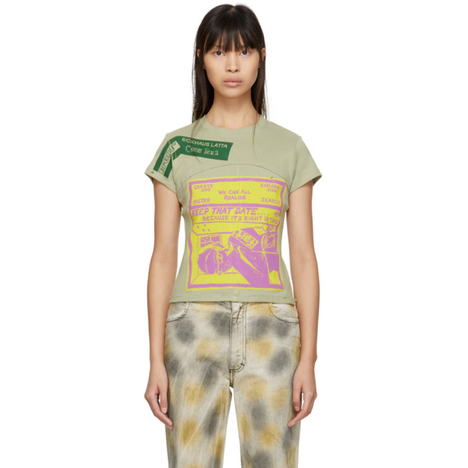 Opening Ceremony Come Tees Lapped Baby Tee in Dust Grey