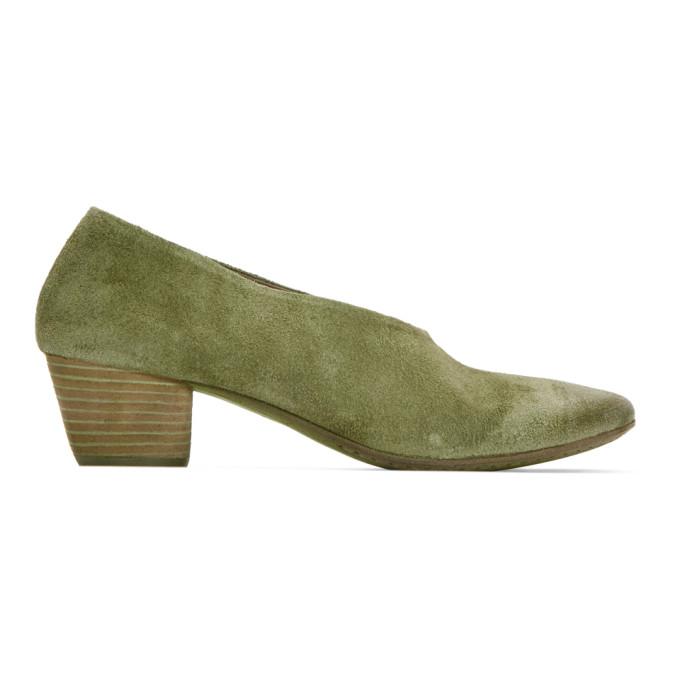 Image of Eckhaus Latta Green Marsèll Edition Coltello Heels