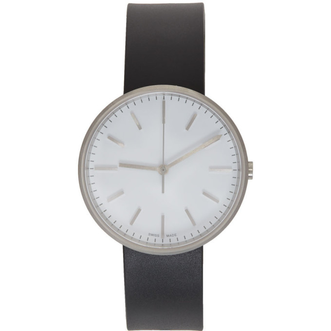 Image of Uniform Wares Black & White Rubber M37 Watch