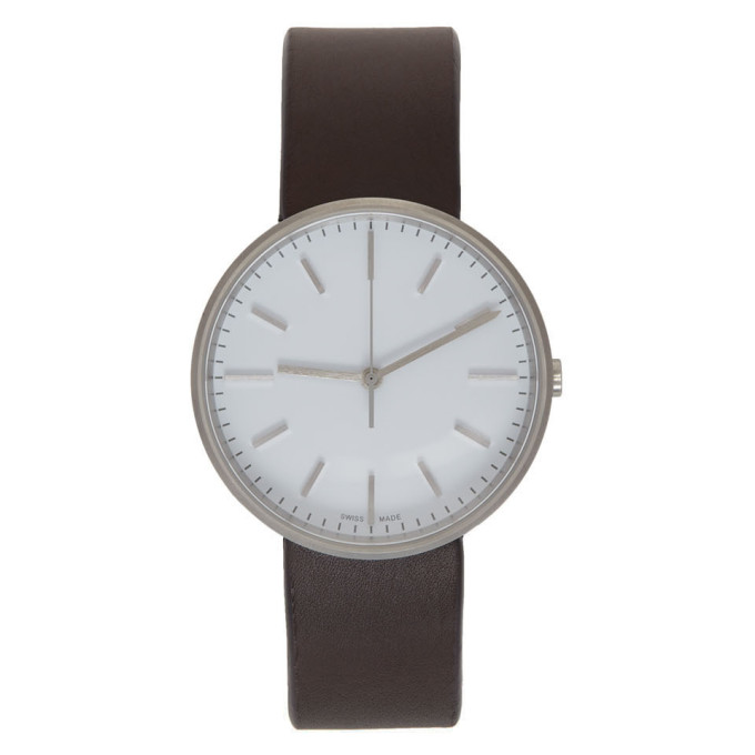 Image of Uniform Wares Brown & White Leather M37 Watch