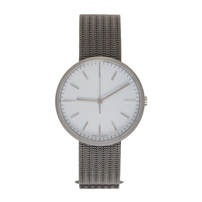 Image of Uniform Wares Grey & White Titanium M37 Watch