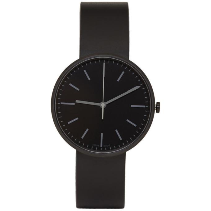 Image of Uniform Wares Black Rubber M37 Watch