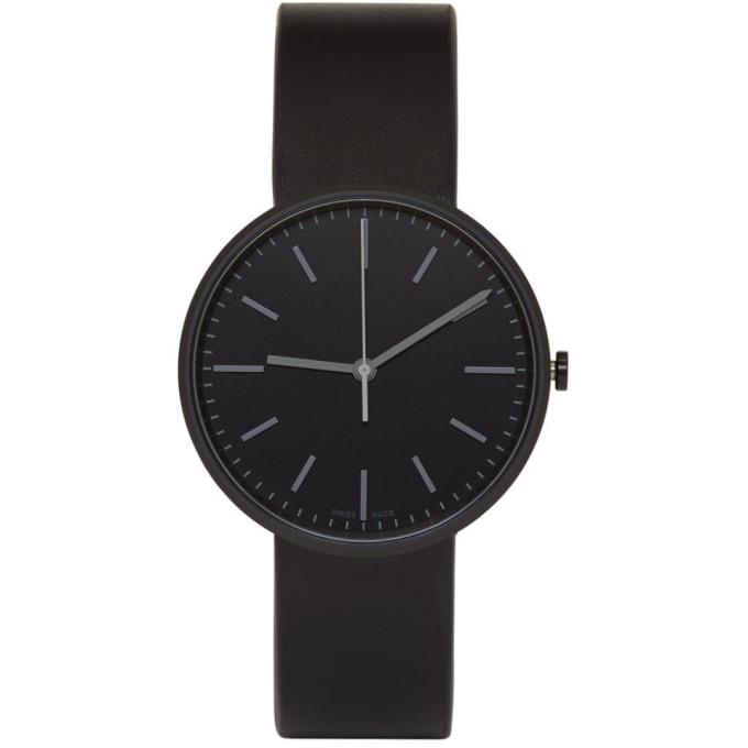 Image of Uniform Wares Black Leather M37 Watch