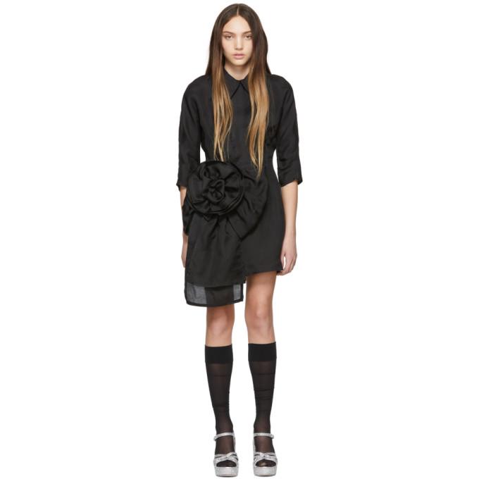 MIU MIU | Miu Miu Black Pointy Collar Dress | Goxip