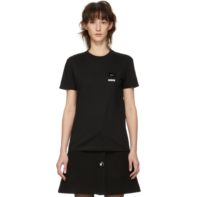 Cat-Patch Cotton-Jersey T-Shirt in F0002 Black