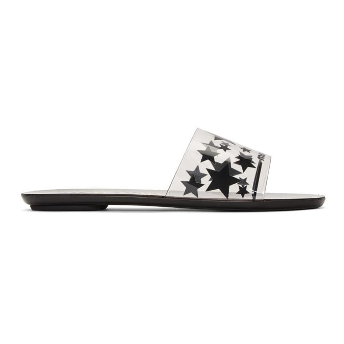 Miu Miu Transparent and Black PVC Sandals