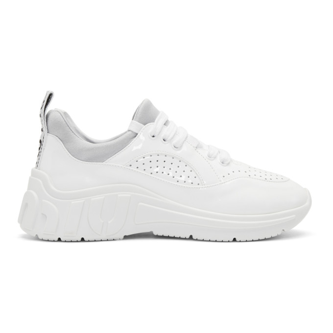 Miu Miu White Patent Run Sneakers