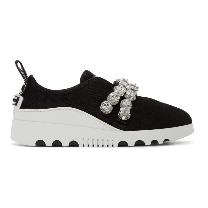 Miu Miu Black Maglia Stretch Sneakers