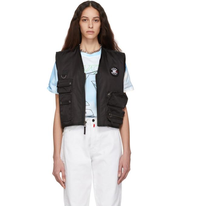 Image of 032c Black Cosmic Workshop Pocket Vest