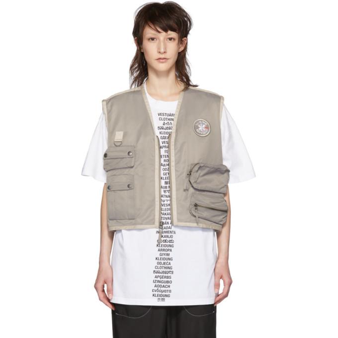 032c Grey Cosmic Workshop Vest 191843F06800301