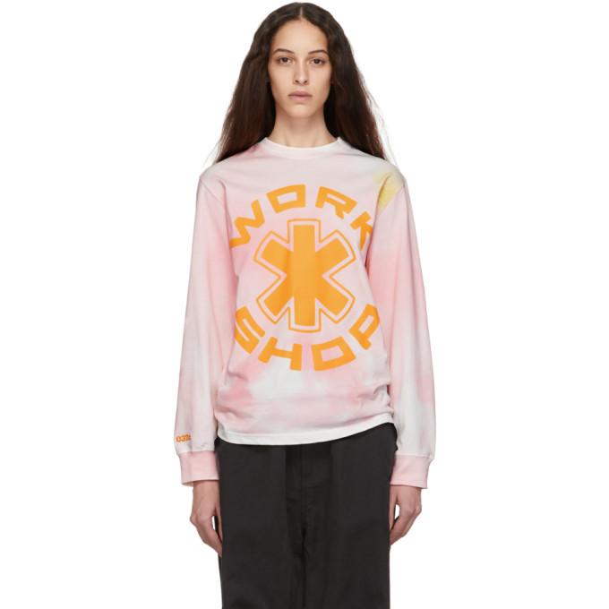 032c Pink Cosmic Workshop Long Sleeve T Shirt 191843F11000304