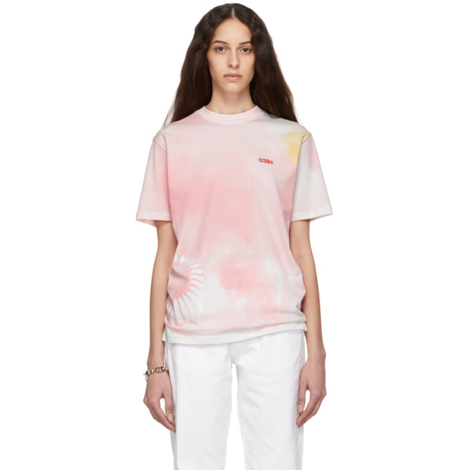 032c Pink Cosmic Workshop Tie Dye T Shirt 191843F11000401