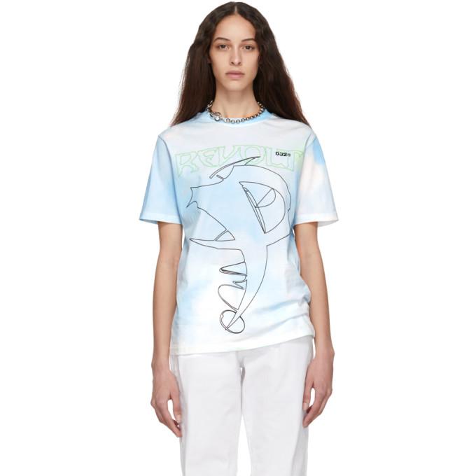 032c Blue Cosmic Workshop Tie Dye T Shirt 191843F11000503