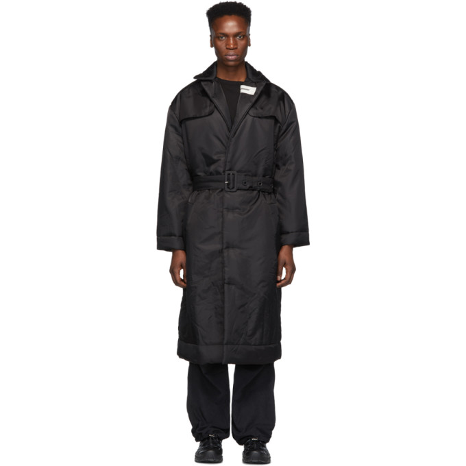 032c Black Cosmic Workshop Overcoat 191843M17600106