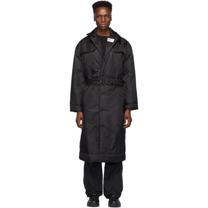 032c Black Cosmic Workshop Overcoat 191843M17600103