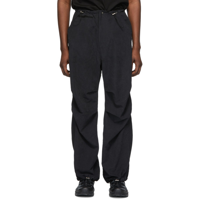 032c Black Flap Pocket Trousers 191843M19000205