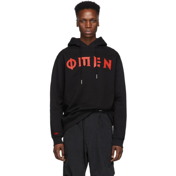 032c Black Cosmic Workshop Omen Hoodie 191843M20200105