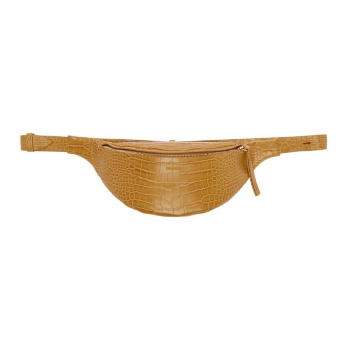 NANUSHKA | Nanushka Tan Croc Lubo Bum Bag | Goxip