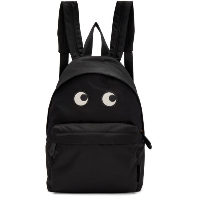 Anya Hindmarch Black Eyes Backpack