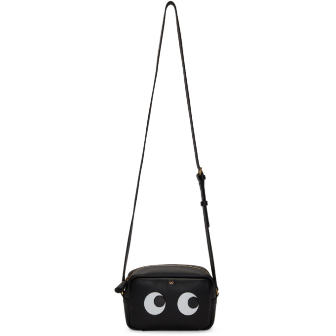 Anya Hindmarch Black Mini Eyes Crossbody Bag
