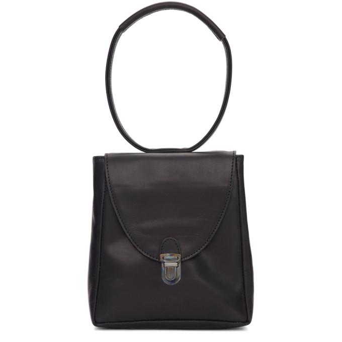 Image of Cherevichkiotvichki Black Mini Rectangular Lock Bag