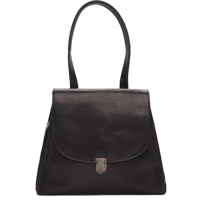 Image of Cherevichkiotvichki Black Single Handle Flat Small Lock Bag