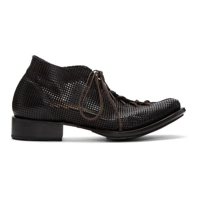 Image of Cherevichkiotvichki Black Split Cropped Boots