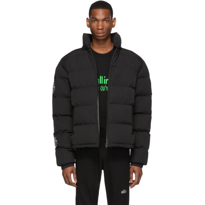 Image of all in Black Puffy Winter Jacket