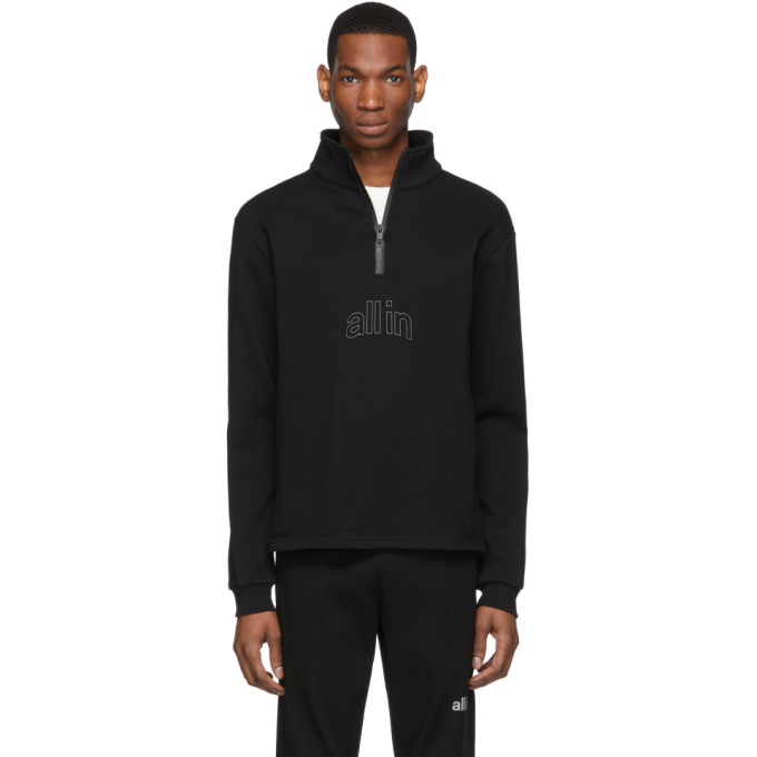 Image of all in Black Half-Zip Pullover