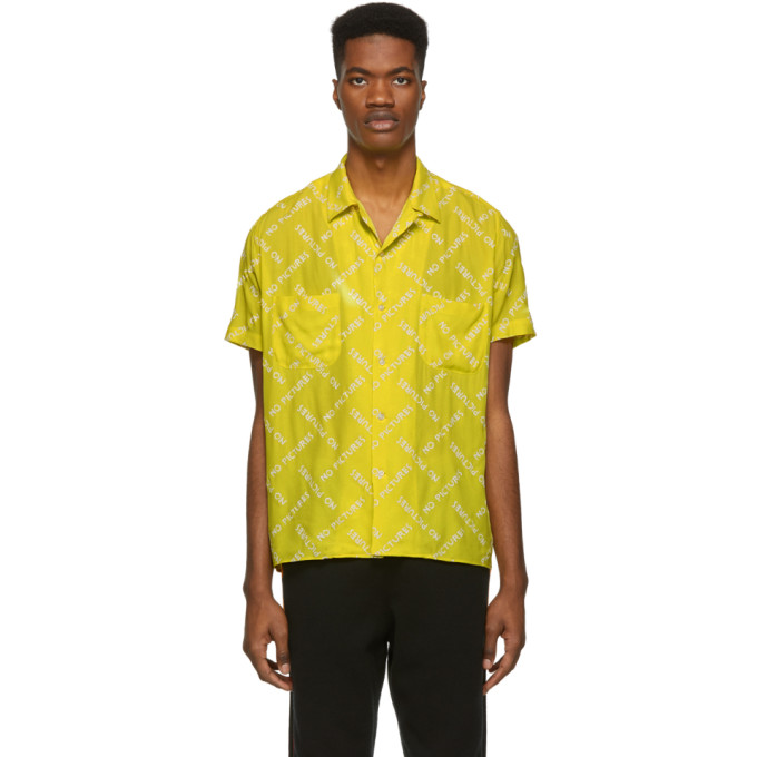Image of Nasaseasons Yellow 'No Pictures' Bowling Shirt