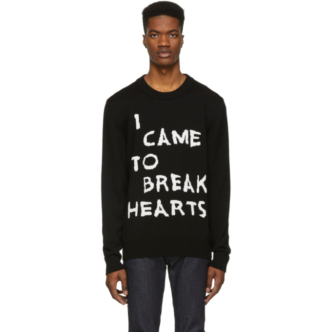 Image of Nasaseasons Black Wool 'I Came To Break Hearts' Sweater
