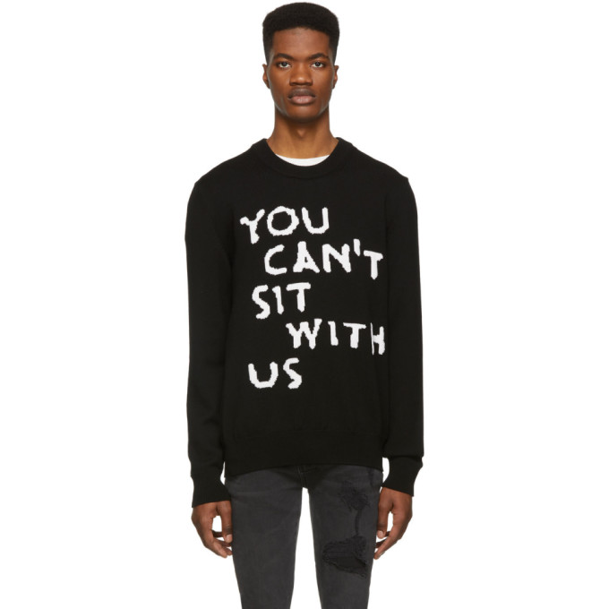 Image of Nasaseasons Black Wool 'You Can't Sit With Us' Sweater