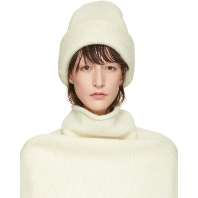 LAUREN MANOOGIAN Lauren Manoogian Off-White Alpaca Carpenter Beanie