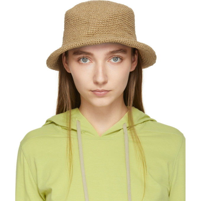 LAUREN MANOOGIAN | Lauren Manoogian Tan Paper Brim Beach Hat | Goxip
