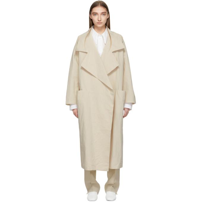Lauren Manoogian Coats LAUREN MANOOGIAN BEIGE PAPER TRENCH COAT