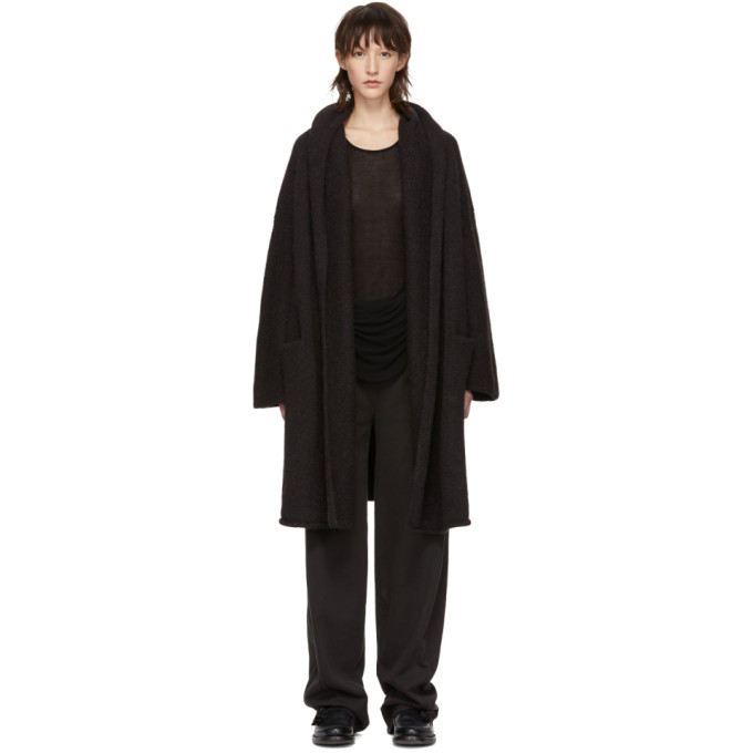 LAUREN MANOOGIAN | Lauren Manoogian Black Capote Hooded Cardigan | Goxip