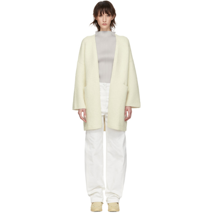 LAUREN MANOOGIAN | Lauren Manoogian White Open Cardigan | Goxip