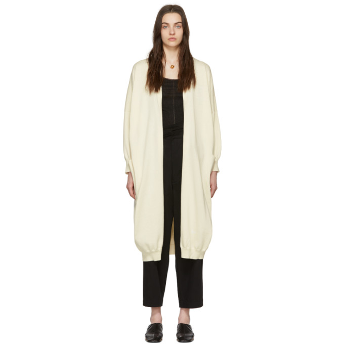 LAUREN MANOOGIAN | Lauren Manoogian Off-White Facil Long Cardigan | Goxip