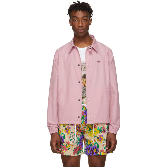 Noah NYC Pink Campus Jacket