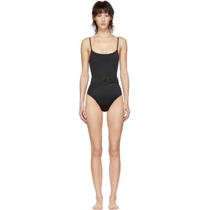 SOLID & STRIPED Solid And Striped Black The Nina One-Piece Swimsuit in 1519 Black