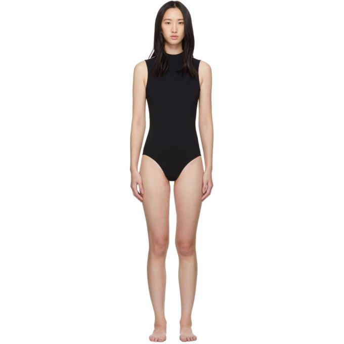 WARD WHILLAS Ward Whillas Reversible Black Harrison One-Piece Swimsuit