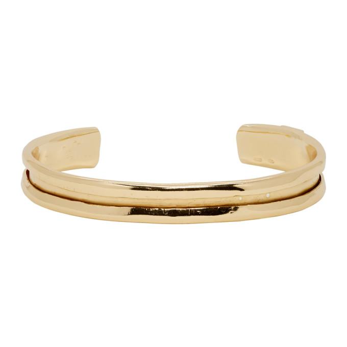 Emanuele Bicocchi Gold Cuff Bracelet
