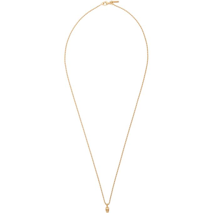 Emanuele Bicocchi SSENSE Exclusive Gold Mini Skull Necklace
