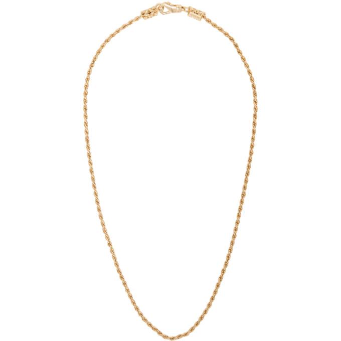Emanuele Bicocchi SSENSE Exclusive Gold Birdcage Necklace