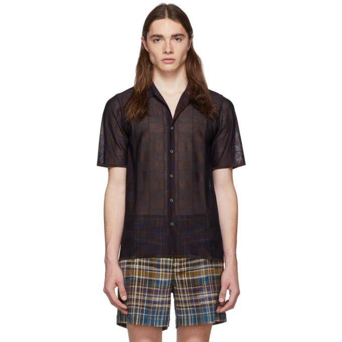 Missoni T-shirts MISSONI NAVY CHECK SHORT SLEEVE SHIRT