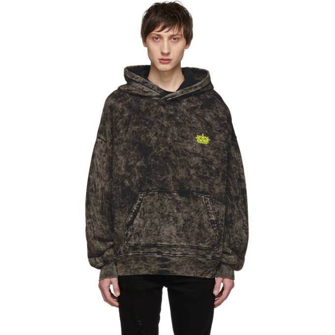 Image of Amiri Black Acid Wash Hoodie