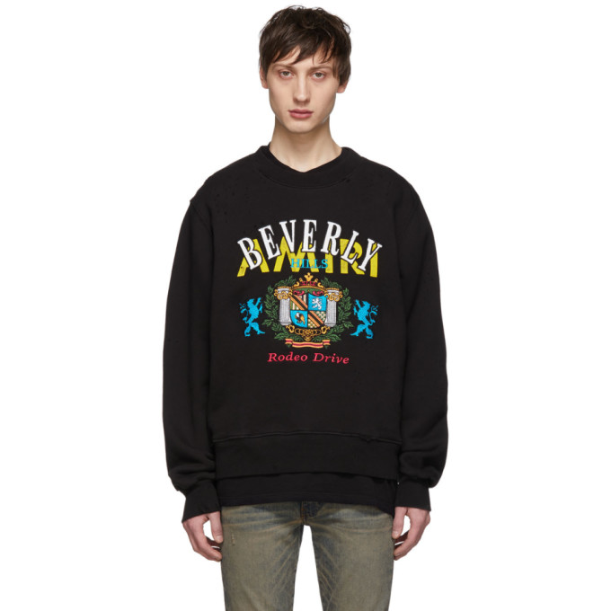 Image of Amiri Black 'Beverly Hills' Sweatshirt