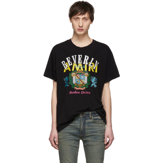 Image of Amiri Black 'Beverly Hills' T-Shirt